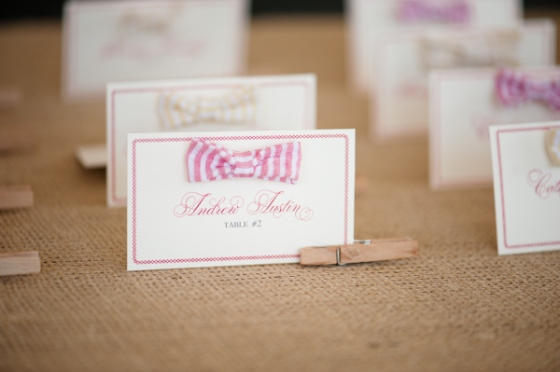 Southern-weddings-Southern-wedding-ideas-bow-tie-escort-cards-Southern-escort-cards-Honey-Bee-Invites-seersucker-escort-cards-seersucker-bow-ties